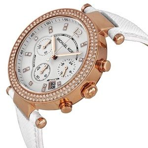 Michael Kors Parker Chronograph Watch white